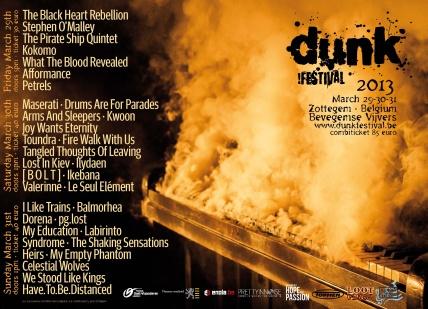 dunk festival flyer